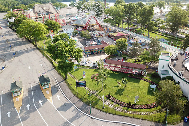 aerial view of Playland Park