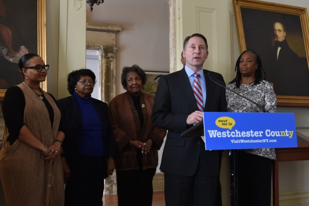 County Executive Robert P. Astorino unveils the new Westchester County Guide to Amfrican American Hisitory and Heritage and announces this year's Trailblazer Award winners