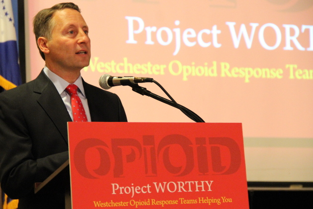 County Executive Robert P. Astorino speaking at Project  WORTHY conference