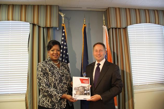 County Executive Robert P. Astorino with Dr. Belinda S. Miles, president of Westchester Community College.